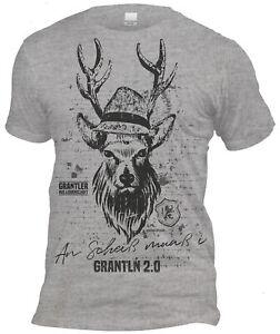 Grantler - An Scheiß muaß i Herren Trachten T-Shirt Oktoberfest Volksfest Grau