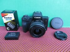 Canon EOS M50 Mirrorless 24.1MP Camera + Canon EF-M 15-45mm Zoom Lens  * L@@K
