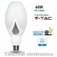 Lampadina led V-TAC 40W = 250W E27 bianco freddo 6500K VT-1940 ED-90 da esterno