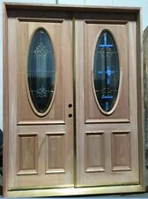 FreeShipping! Solid Mahogany Wood Double Door prehung DMH8350-6/0 X 8/0