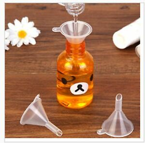 5pc Mini Small Plastic Funnels For Perfume Liquid Oil Filling Empty Bottle Tools