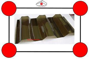 Lichtplatten aus Polycarbonat, K76/18, hagelfest, bronze, 5 bis 7 m