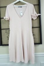 Abercrombie & Fitch Women Pink Ribbed Jersey knit casual Skater Dress XL NEW