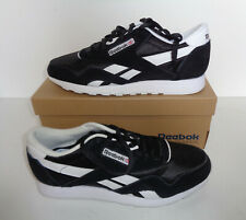 Reebok Mens New Classic Nylon Black Casual Trainers Shoes RRP £70 UK Size 9