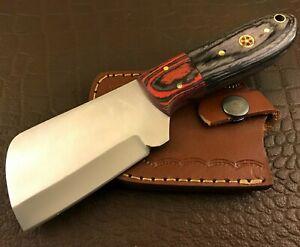 Handmade Axe-Hatchet-Carbon Steel-Bush Craft-Camping-Leather Sheath-Ch41