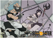 Wall Scroll - Soul Eater - Black Star/Tsubaki Attack Poster Art New Gifts ge5322