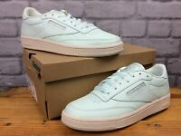 REEBOK LADIES UK 6 EU 39 MINT GREEN LEATHER CLASSIC CLUB C 85 TRAINERS RRP £65 K