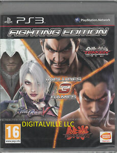 Fighting Edition PS3 Tekken Tag Tournament 2 Soul Calibur V Tekken 6 NEW&SEALED