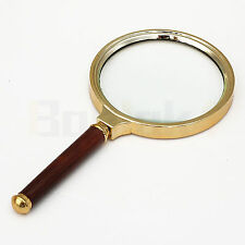 10X Magnifying Glass Reading Magnifier Viewing Round Handheld Hand Aid 90mm UK