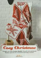KNITTING PATTERN Christmas Scandi Patchwork Blanket Snowflake Tree Heart Aran