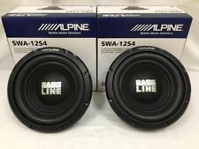"2 x ALPINE SWA-12S4 12"" CAR AUDIO SINGLE 4-OHM SUB WOOFER 250W RMS (1) PAIR"