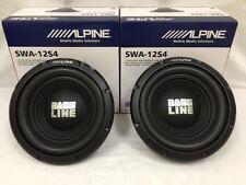"""2 x ALPINE SWA-12S4 12"""" CAR AUDIO SINGLE 4-OHM SUB WOOFER 250W RMS (1) PAIR"""