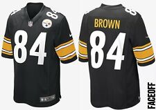 "Nike NFL Pittsburgh Steelers Game Jersey Antonio Brown UK Size Large (44"" Chest)"
