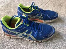 ASICS Gel-Kayano 19 Blue Yellow Lace Up Sports Trainers UK Size 10.5 EU45