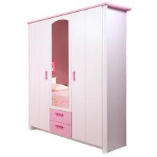 Kleiderschrank Biotiful 3-trg weiß rosa B 136 cm Jugend Kinderzimmer Spiegeltür