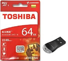 Toshiba Exceria Micro SD XC 48mb/s 64gb Class 10 Uhs-i Memory Card a