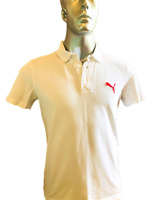 Puma  Mens  Polo T shirt  M Medium  White  Activewear  Casual  Sport