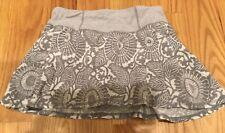 Lululemon Run in the Sun Skirt ~ Beachy Floral Fossil Gray ~ Sz 2 ~ VGUC