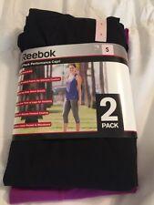 New Women's Reebok Capri Yoga Pants Size Small. 2 Pack. MSRP $80!