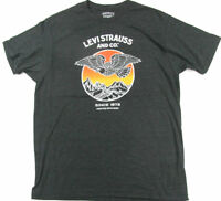 Levi's T Shirt Levis Strauss  Since 1873 Eagle Mountains Charcoal Melange  Levis