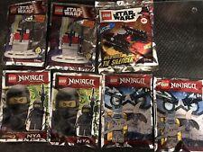 7 X Lego Sets - 911511 Star Wars, 891591 & 892061 & 911954 Ninjago - Joblot Rare