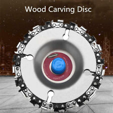 2PCS 4'' Angle Grinder Disc 22 Tooth Chain Saw for Wood Carving Cutting Tool