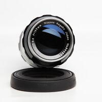 Nikon Nippon Kogaku Auto  NIKKOR Q 135mm f/3.5 Non-Ai w/Case Rubber Lens Hood