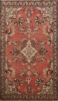 Antique Floral Traditional Hand-knotted Area Rug Wool Oriental Foyer Carpet 4x6