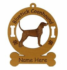 Bluetick Coonhound Dog Breed Ornament Personalized With Your Dog's Name 1809