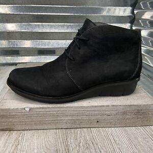 Dansko Desert Boot Black Leather Three Eye Lace Up Ankle Size 41
