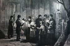Christmas in CANADA 1876 SINGING CAROLS at LONGUEUIL on ST. LAWRENCE Music Print