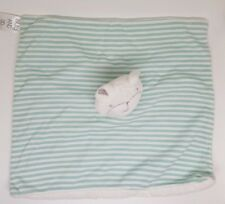 DOUDOU PELUCHE TESCO BILLY AND SID OURS BLANC PLAT RAYURES RAYÉ BLEU
