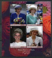 Montserrat 2017 MNH Diana Princess of Wales 20th Memorial 4v M/S Royalty Stamps