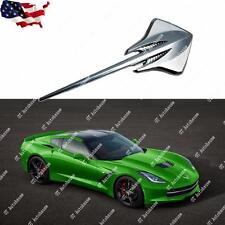 1x Stingray Mako Shark Emblem Metal Badge Sticker for C3 Vette 2014+C7 Corvette