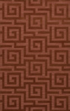 Pink Transitional Hand Hooked Squares Curls Blocks Area Rug Geometric DV13
