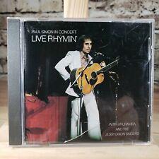 Paul Simon - In Concert : Live Rhymin' (CD) disk is MINT!