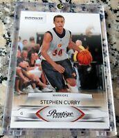 STEPHEN CURRY 2009 Prestige #1 Draft Pick Rookie Card RC Warriors MVP $$ HOT $$