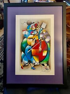 """David Schluss Artist Proof """"Playing the Band"""" Framed Signed & Numbered"""