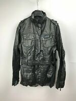 Barbour Women's Duralinen Tartan International Black Jacket Coat US12 UK16 42