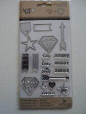 ART C STAMP & CUT DIAMOND SHINE BRIGHT SET BNIP *LOOK*