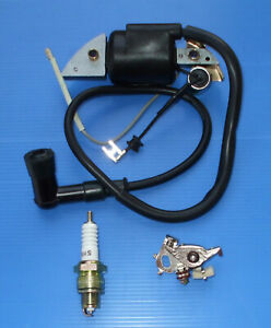HONDA G400 IGNITION COIL CONDENSOR POINTS SPARK PLUG AND CAP