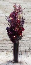 Unique Plum Bouquet FREE GLASS vase (20 LED battery lights) wedding tables