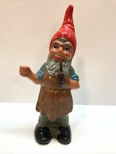 Vintage Heissner Terra Cotta/Pottery Gnome Statue Garden Art West Germany 9�