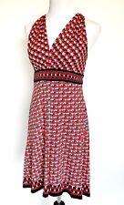 Max Studio Stretch Dress Red Black Spot Print Size M Retails $98 Price $49 NWT