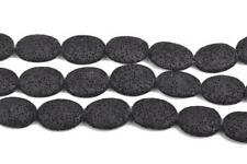 26mm Oval BLACK LAVA Beads, perfume diffuser beads essential oil beads, glv0023