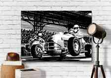 "Midget Car Racing Graphic Art Print Canvas 18""X24"" Vintage Sprint USAC Guy Gift"