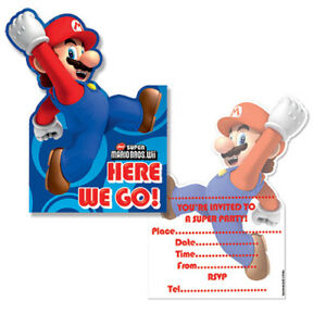Super Mario Party Invitations (Pack of 6)