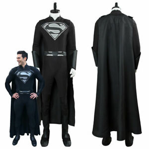 Supergirl Elseworlds Superman Tyler Hoechlin Arrowverse Cosplay Black Costume