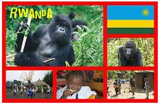 RWANDA - SOUVENIR NOVELTY FRIDGE MAGNET - SIGHTS / FLAGS - GIFTS - BRAND NEW