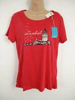 BNWT WOMENS MAVI RED ISTANBUL T SHIRT TOP SIZE XL
